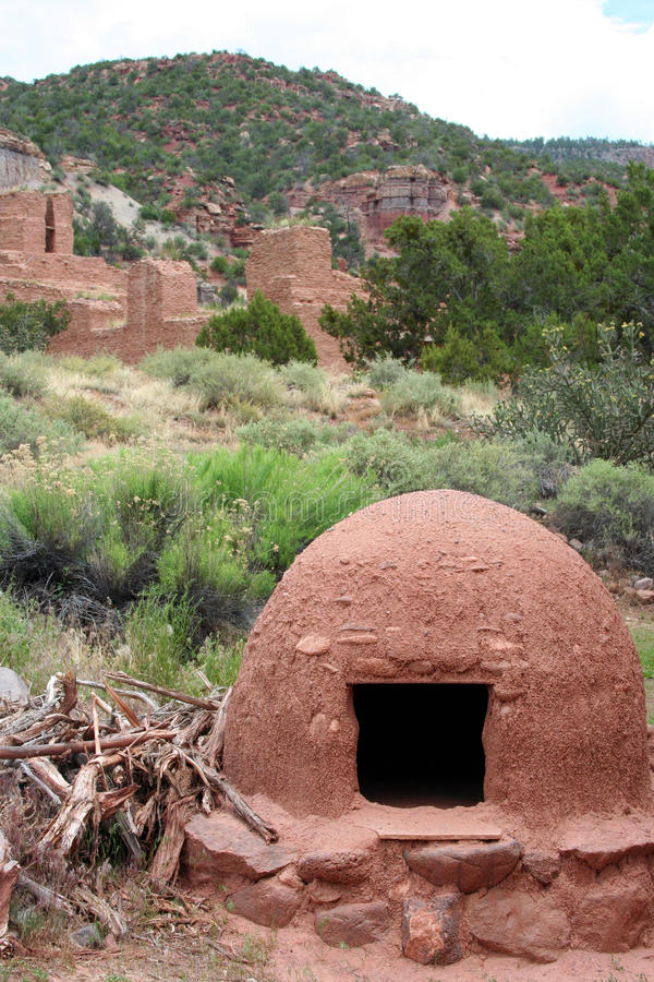 Ancient Native American Ruins. In New Mexico at Jemez royalty free stock images