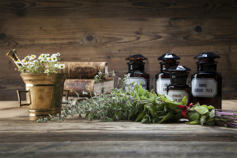 Download The Ancient Natural Medicine, Herbs And Medicines Stock Photo - Image of nature, plant: 44439148