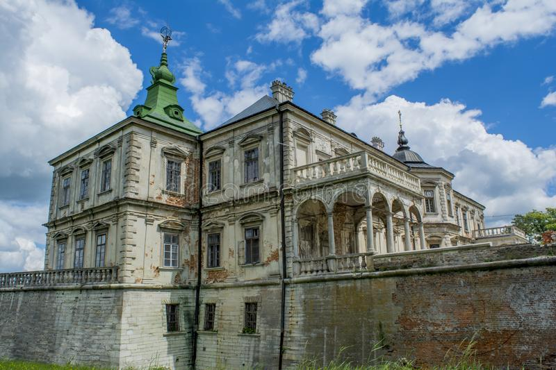 Ancient creepy huge chateu located in Ukraine. Ancient old creepy huge chateu located in Ukraine royalty free stock images