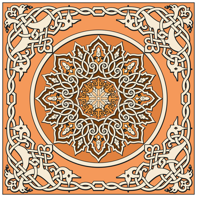Ancient Old Russian  Pattern Stock Photography