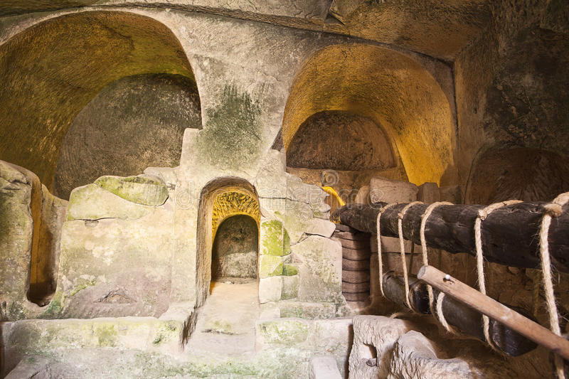Ancient Olive Oil Press Royalty Free Stock Images