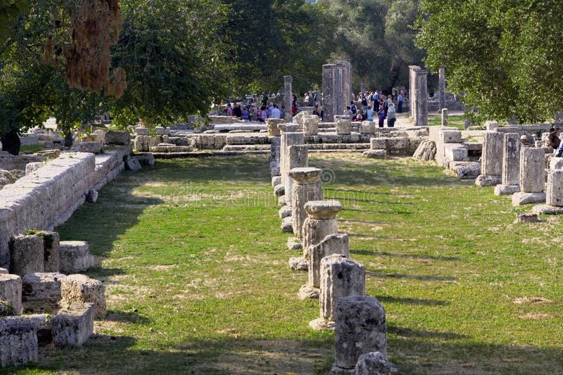 Ancient Olympia, Greece royalty free stock image