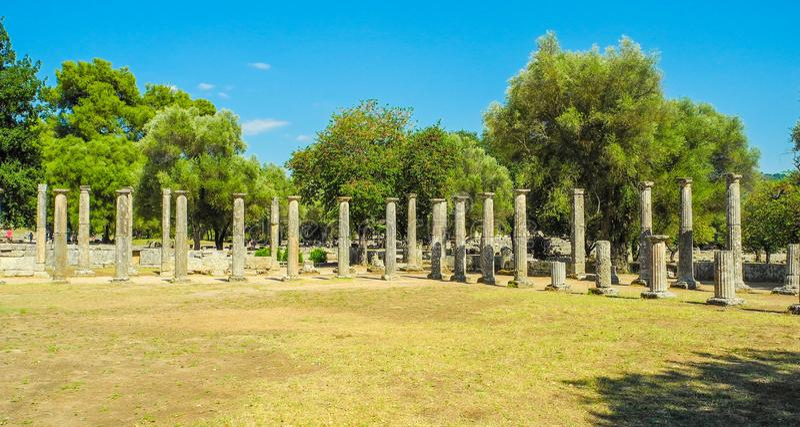 Ancient Olympia, Greece. royalty free stock photo