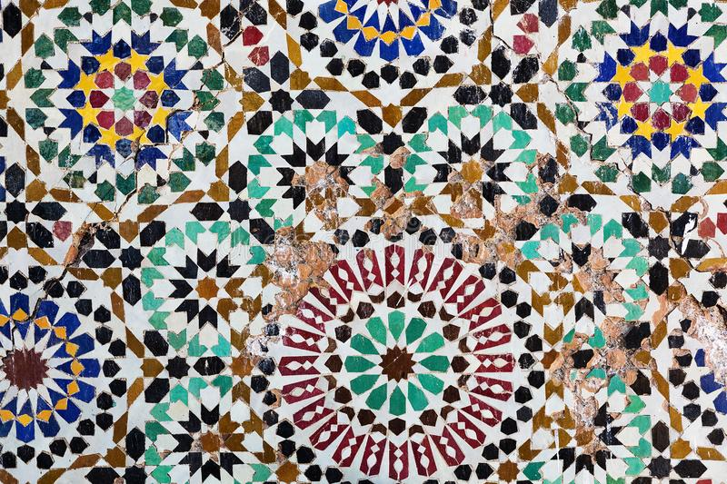 Ancient oriental mosaic, multicolored. royalty free stock photography