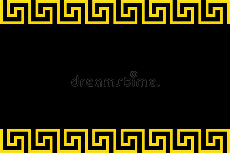 Ancient oriental ornament royalty free illustration