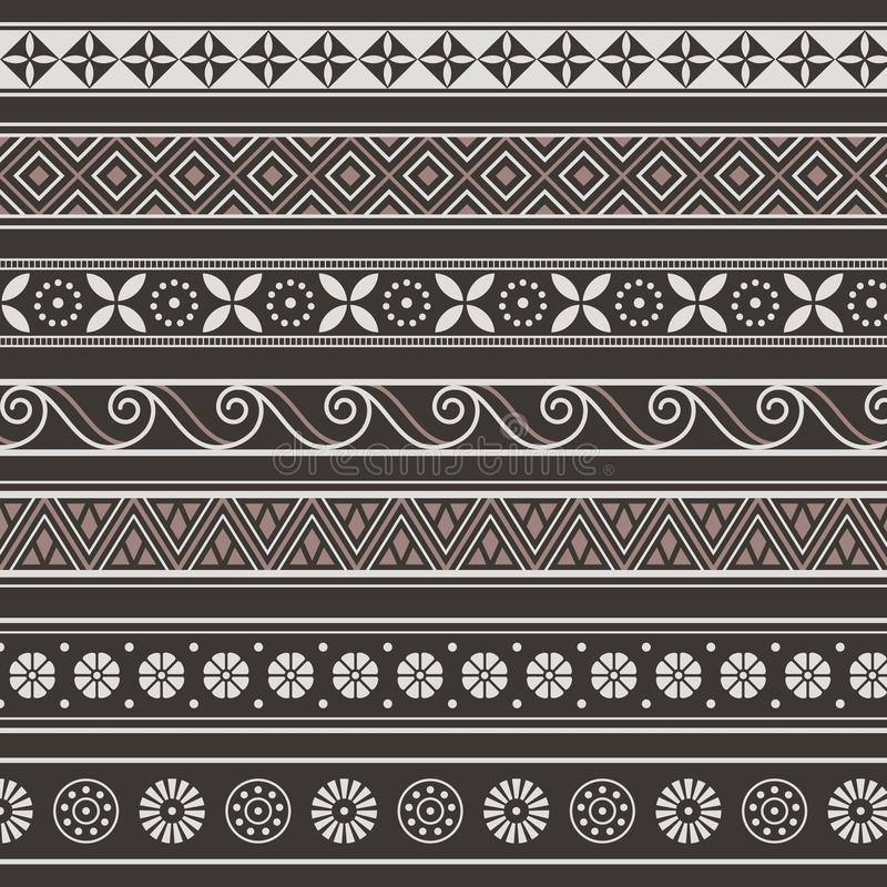 Set of borders, frames with ancient ornaments Vector royalty free illustration