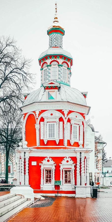 Ancient orthodox church in Russia in Sergiev Posad royalty free stock images