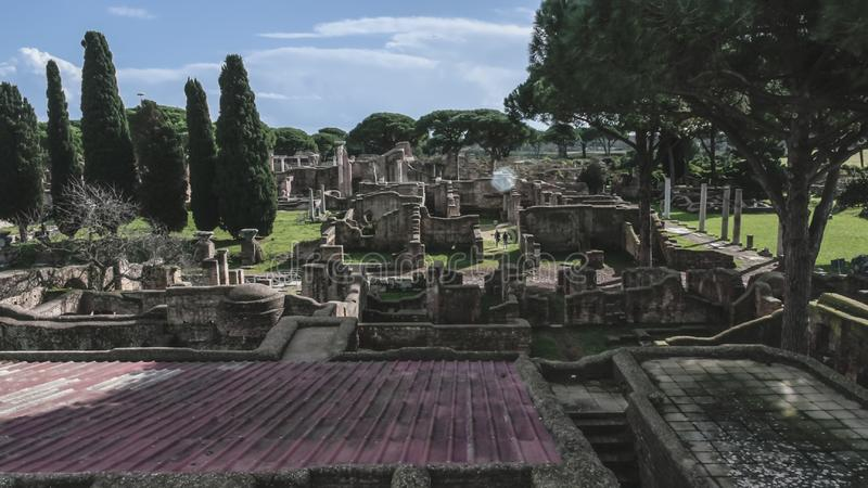 Ancient ostia ruins stock image