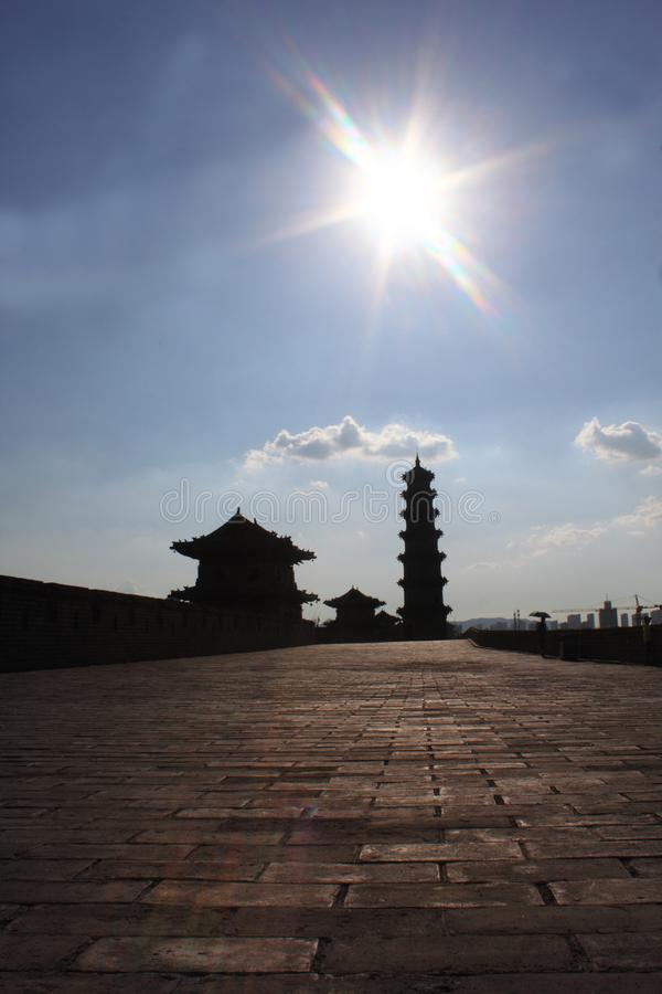 Ancient pagoda. Chinese traditional architecture. Photo taken in Shanxi province, China stock images