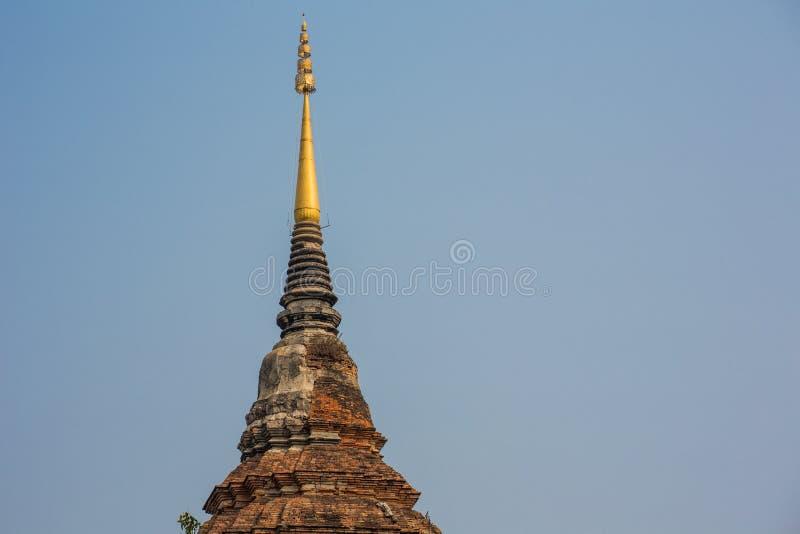 Ancient pagoda. At Wat Lok Mo Lee, Chiangmai royalty free stock photo