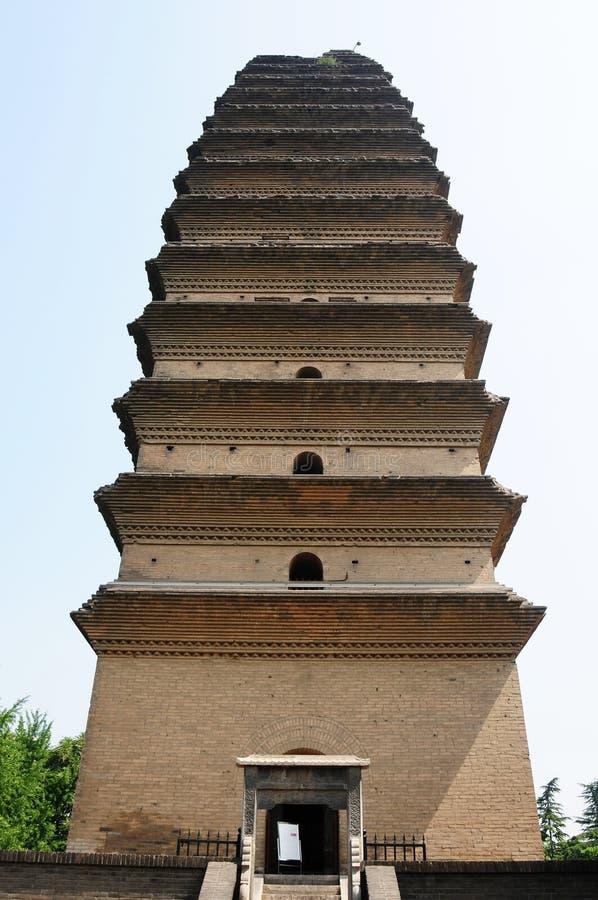 Ancient pagoda, Xian, China stock photos