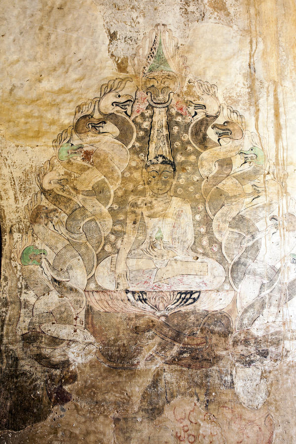 Download Ancient Burmese Painting stock image. Image of bagan - 29867551