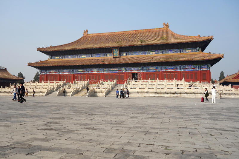 Ancient palace in Beijing. Tai Miao Temple China royalty free stock image