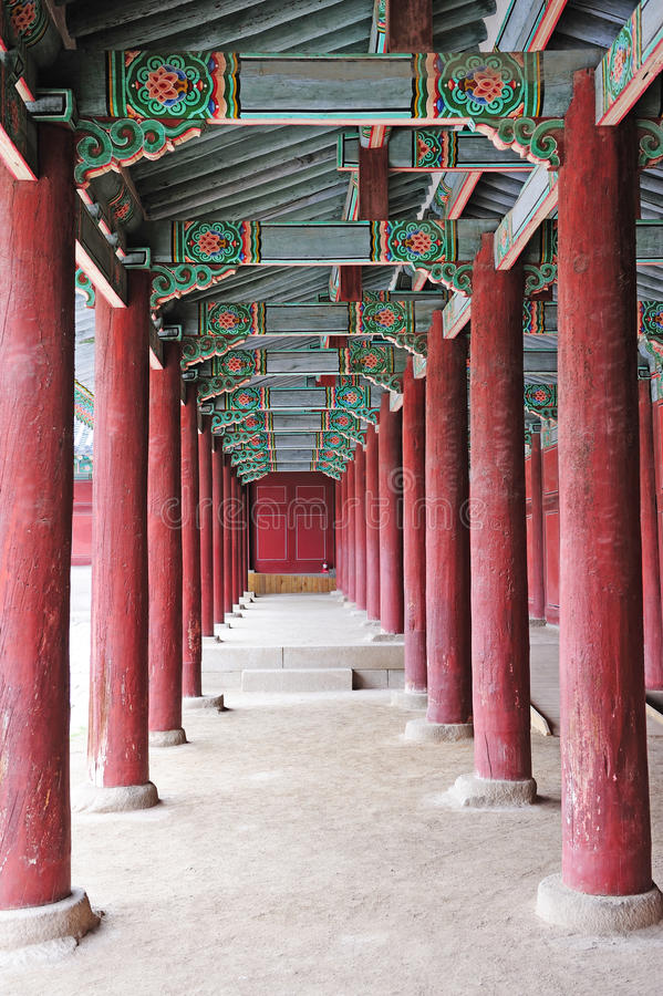 Ancient palace in korea stock images