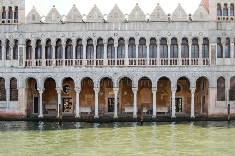 Ancient palazzi palace in Venice, Italy royalty free stock images