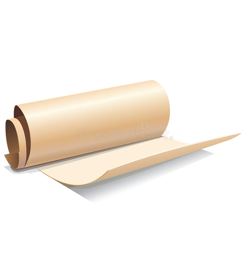 Download Ancient paper roll icon stock vector. Image of empty - 34502806