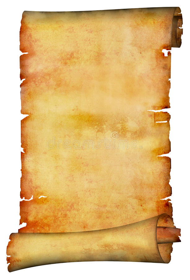 Ancient paper scroll royalty free stock image