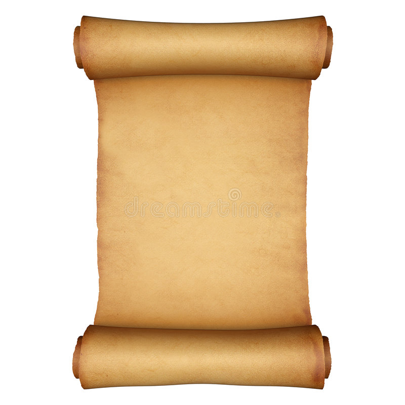 Ancient Scroll: Ancient Paper Scroll Stock Illustration. Illustration Of