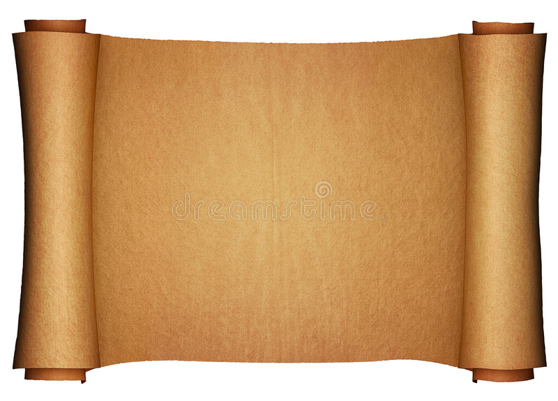 Ancient Paper Scroll Horizontal View Stock Illustration ...