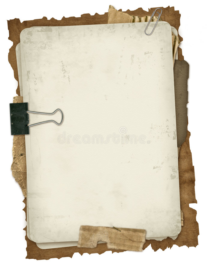 Ancient papers design stock photography