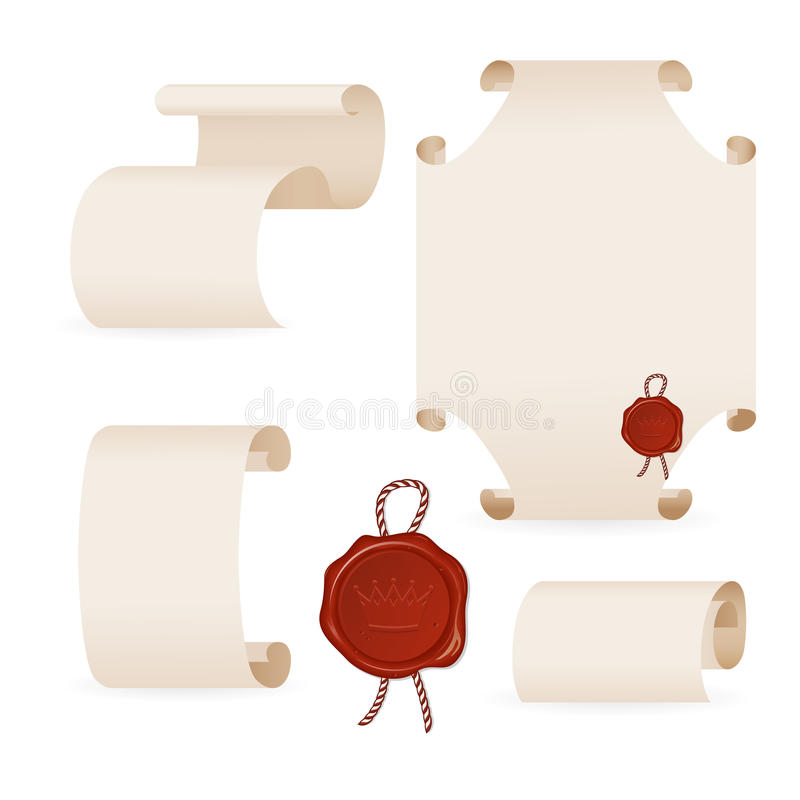 Download Ancient parchment stock vector. Illustration of seal - 20058667