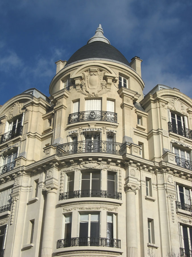 Ancient parisian building royalty free stock photo
