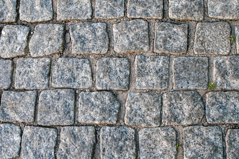 The ancient paving blocks of marble. royalty free stock image