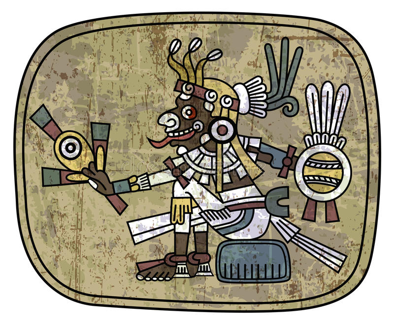 Download Ancient Petroglyph Depicting A Man Stock Vector - Illustration of idol, face: 34272452