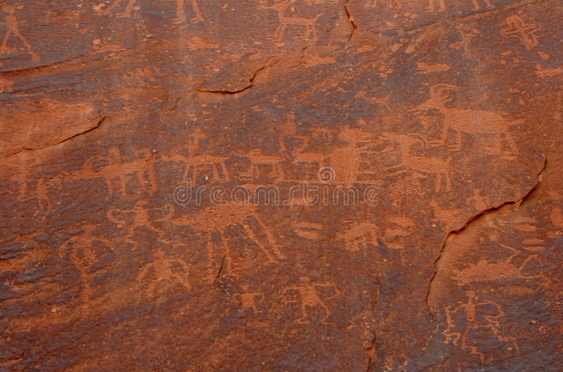 Download Ancient petroglyphs stock photo. Image of indians, engraving - 3436270