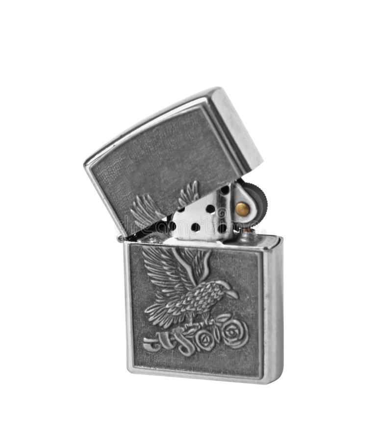 Ancient petrol lighter stock images