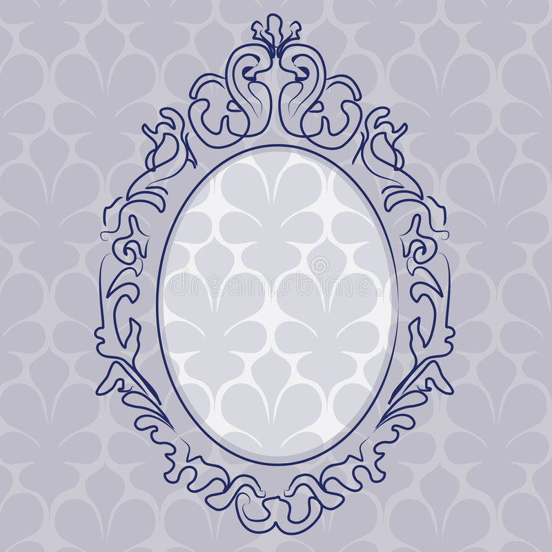 Ancient picture frame royalty free illustration