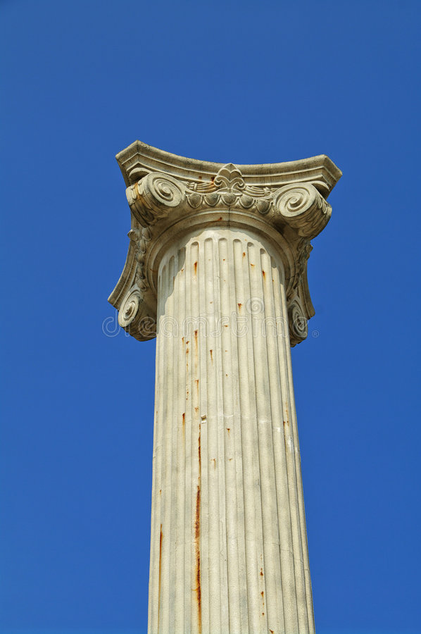 Ancient pillar stock photo. Image of italy, architecture ...