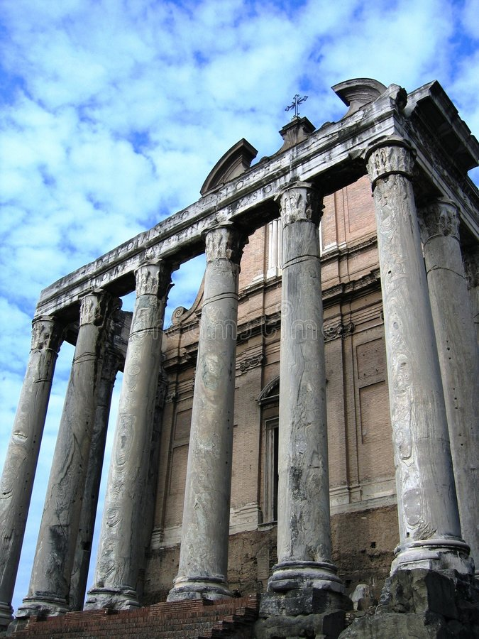 Ancient Pillars royalty free stock image
