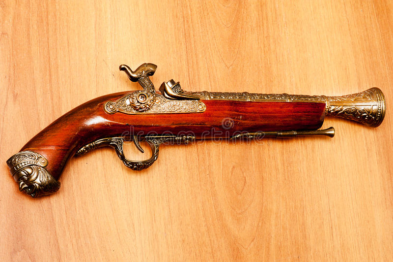 Download Ancient pistol stock photo. Image of studio, rifle, retro - 25813756
