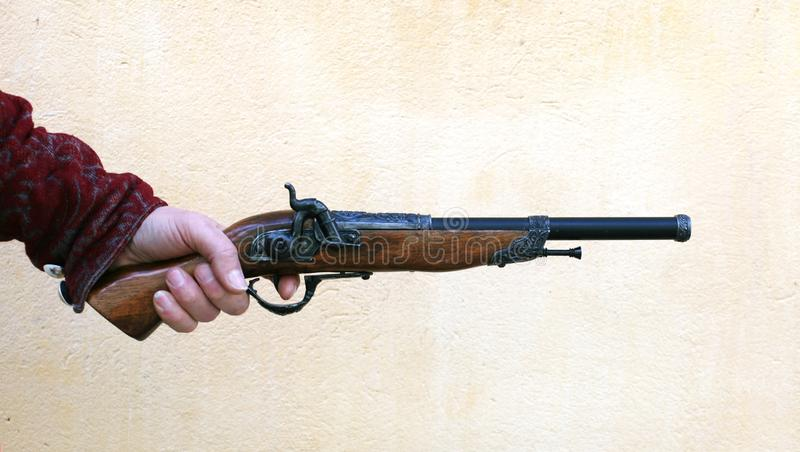 Download Ancient pistol stock image. Image of obsolete, history - 8100153