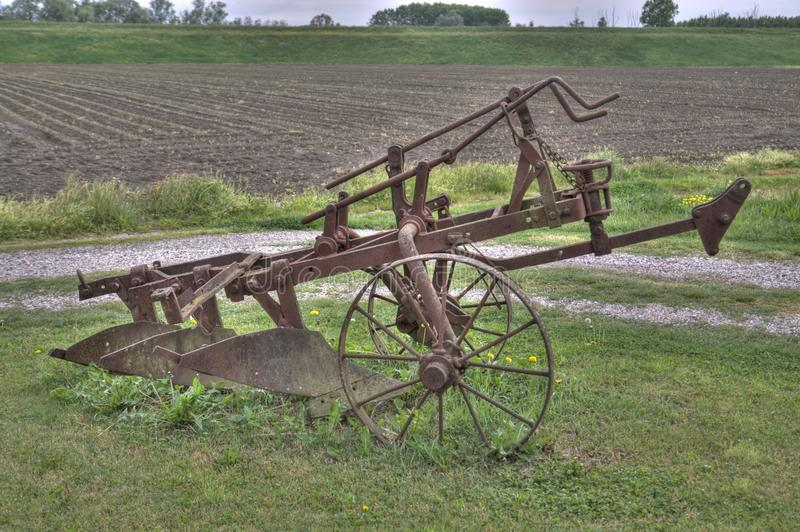 Download Ancient Plough On The Grass Stock Image - Image of equipment, plough: 14720305