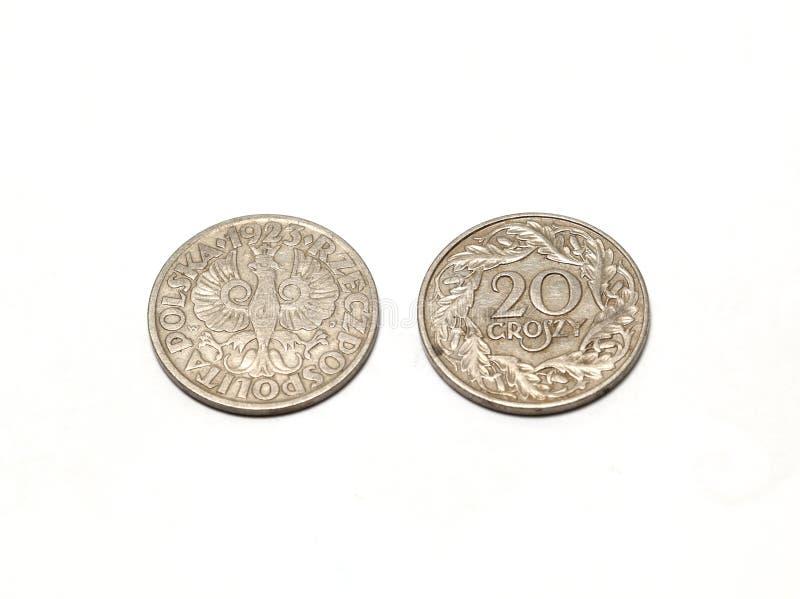 Polish coin royalty free stock photos