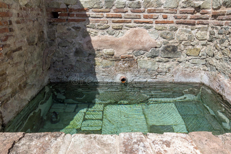 Ancient pool in Thermal Baths of Diocletianopolis, town of Hisarya, Bulgaria. Ancient pool in Thermal Baths of Diocletianopolis, town of Hisarya, Plovdiv Region royalty free stock image