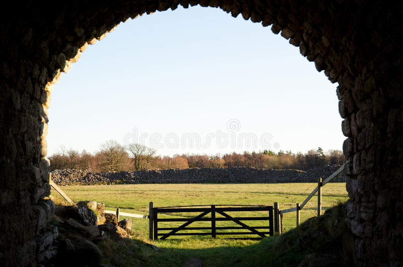 Ancient portal stock image