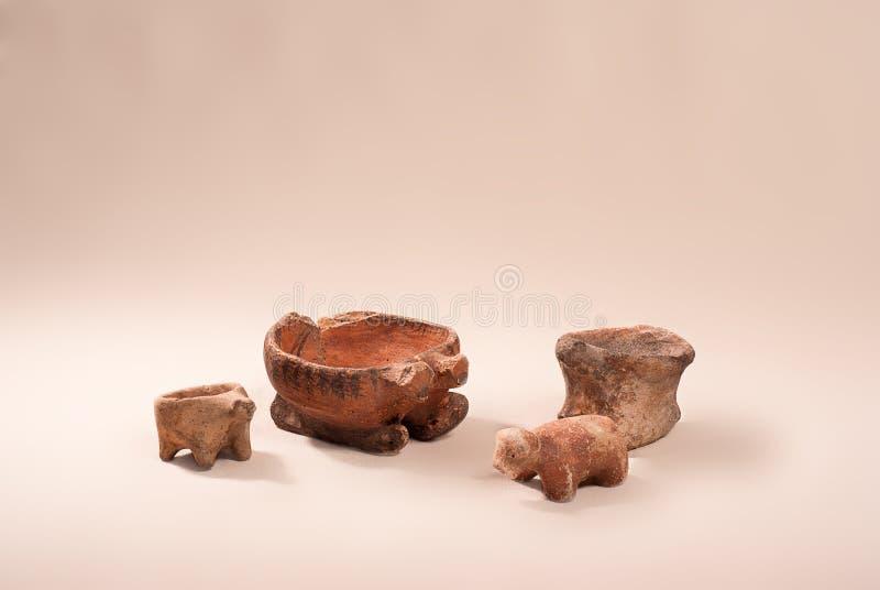 Ancient pottery culture Cucuteni stock photos