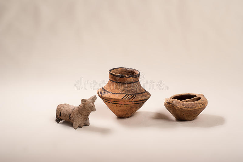 Ancient pottery culture Cucuteni royalty free stock photo