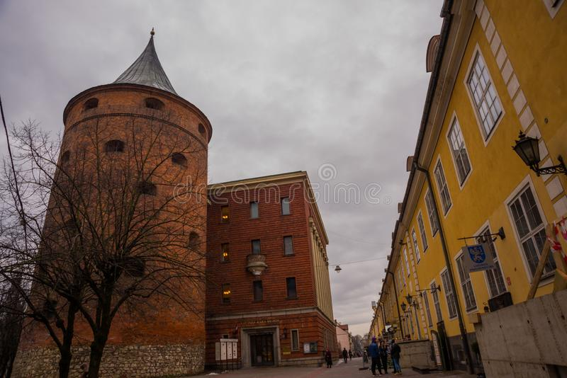 Ancient Powder Tower in Riga. Nowadays the building is the Latvian War Museum and World Heritage Site of UNESCO. In 2014, Riga was. Ancient Powder Tower XIV c royalty free stock photography