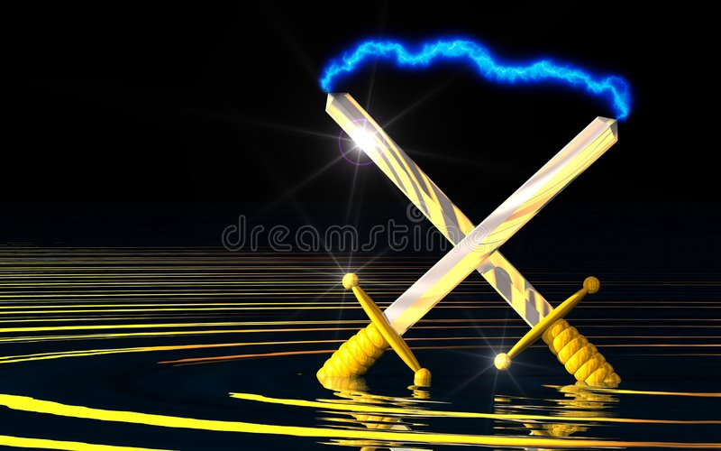 Download Ancient Power stock illustration. Image of knife, black - 6812113