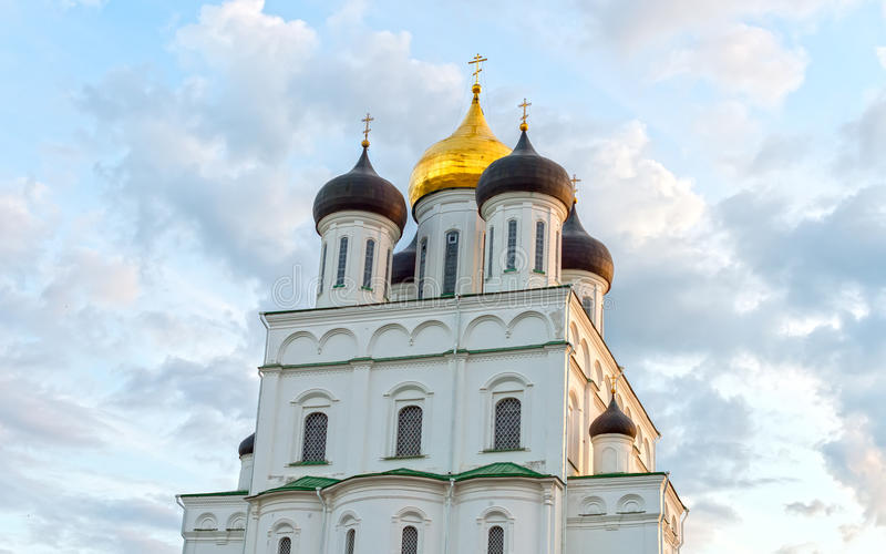 Ancient Pskov Kremlin. royalty free stock photos