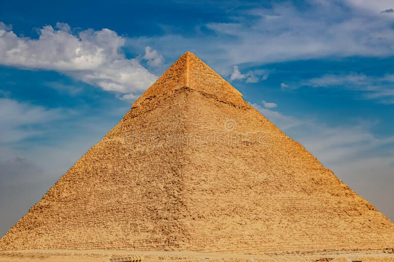 The ancient pyramid of Chefren in Giza, Egypt.  stock photos