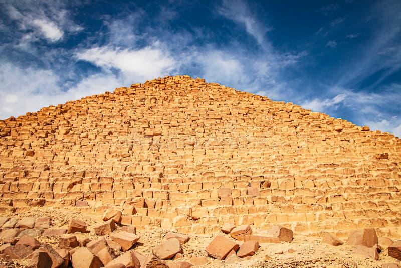 Ancient Pyramid of Mycerinus, Menkaur in Giza, Egypt.  stock photography