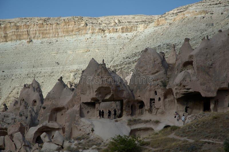 Ancient Quarter at Cappadocia Walley stock images