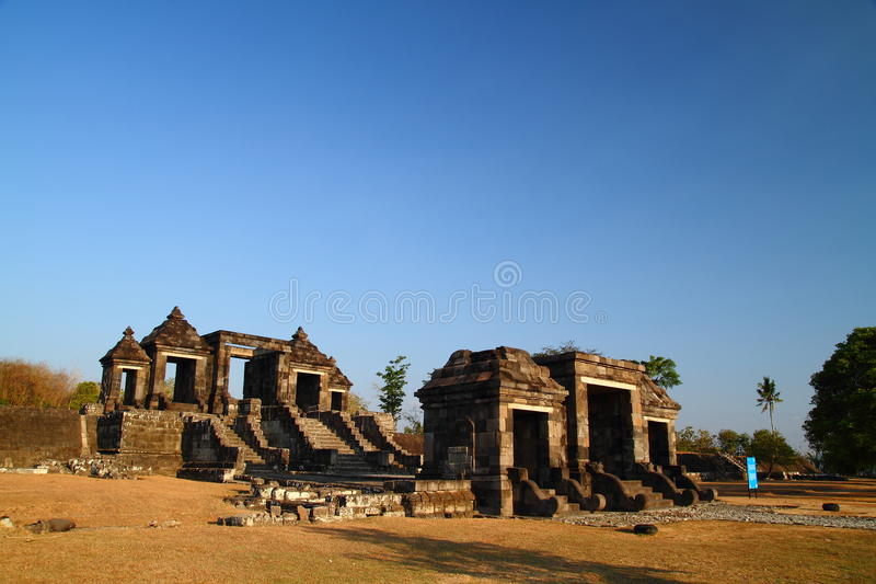 Ancient Ratu Boko Castle. A Ruined Ancient Castle near Prambanan Temple, Indonesia royalty free stock image