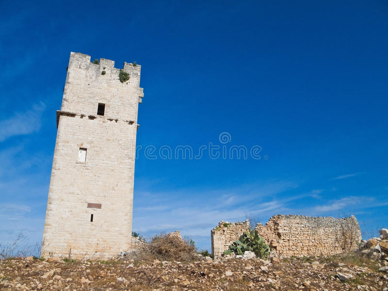 Download Ancient Red Stones Tower Of Giovinazzo. Apulia. Stock Photo - Image: 12900432