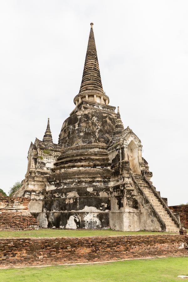 Ancient remains at Wat Phra Sri Sanphet, Ayutthaya, Thailand, Asia stock photo